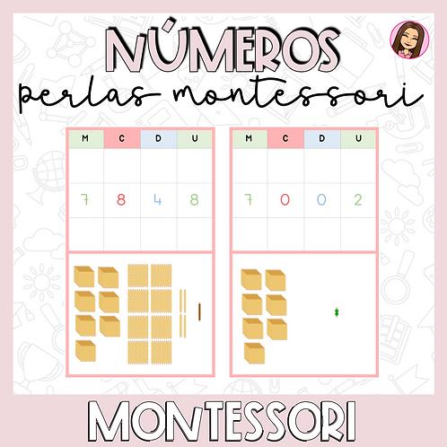 Numeros para perlas Montessori