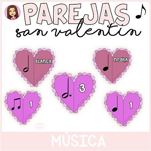 Parejas musicales SAN VALENTÍN
