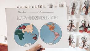 Ficha continentes Montessori