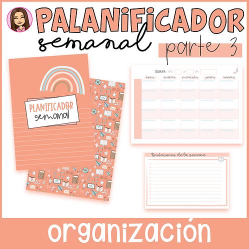 Planificador SEMANAL (Parte 3 del Cuaderno del Profesor) EDITABLE