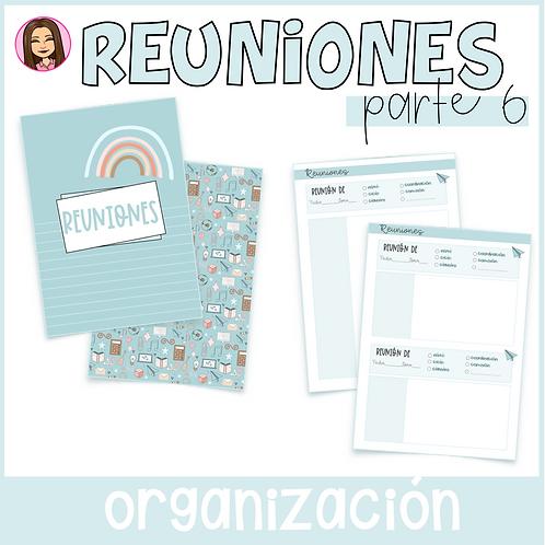 Registro de Reuniones (Parte 6 del Cuaderno del Profesor)