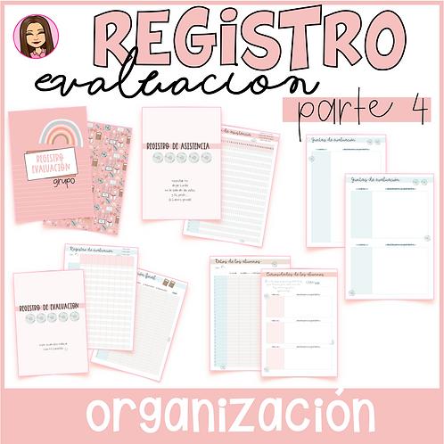 Registro de Evaluación y Asistencia (Parte 4 del Cuaderno del Profesor) EDITABLE