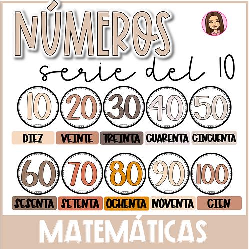 Serie del 10 Poster (10-100)