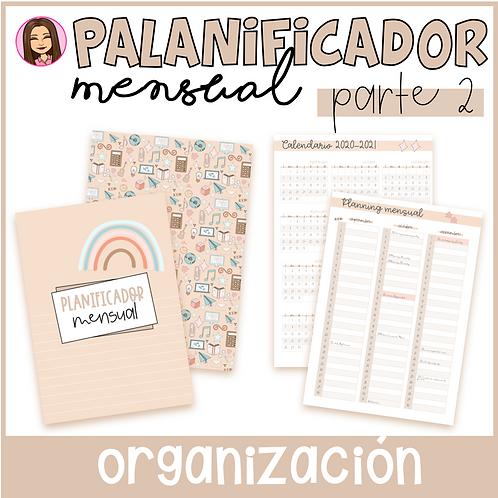 Planificador MENSUAL (Parte 2 del Cuaderno del Profesor)