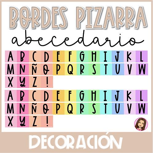 ABC Bordes Pizarra RAINBOW