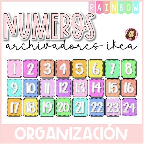 Números organizadores RAINBOW