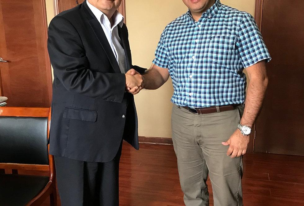 Superintendente se reunió con encargado de proyectos de San Ramón