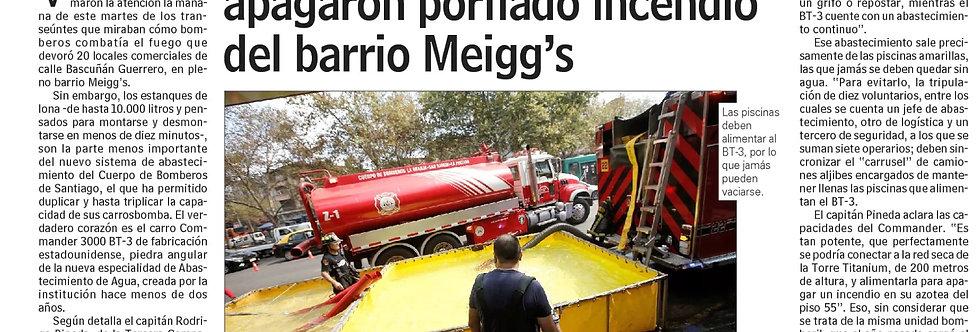 Apoyo incendio barrio Meiggs