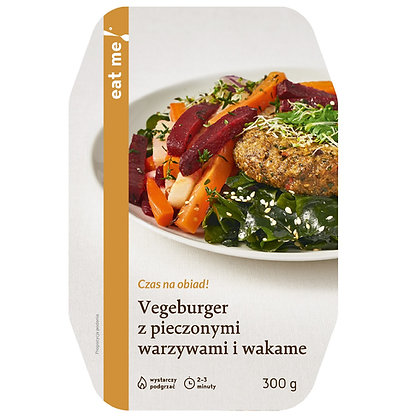 Vegeburger z pieczonymi warzywami i wakame