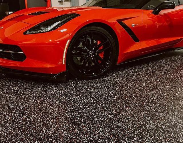Corvette on epoxy floor