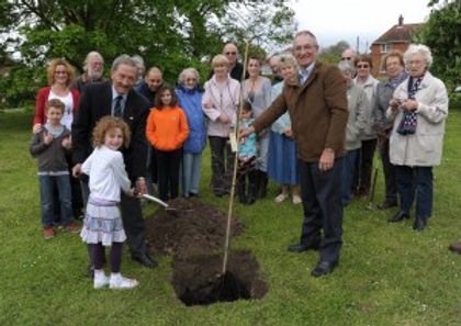 Photo of the planting of the diamond jubilee royal oak
