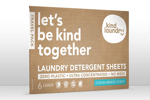 Eco-Friendly Laundry Detergent Sheets - Ocean Breeze