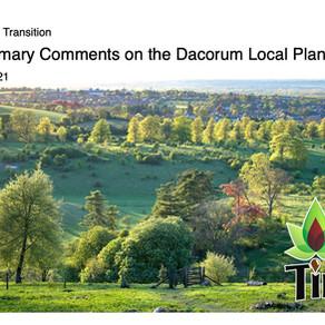 Draft response to Dacorum Local Plan