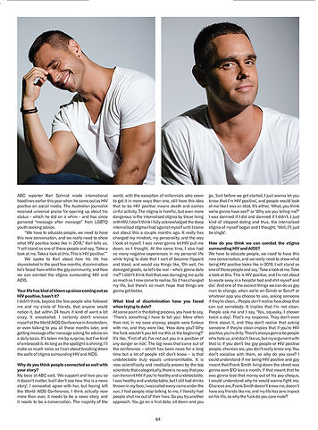 Journalist Karl Schmid in GAYTIMES Magazine by Bryan Rashaun