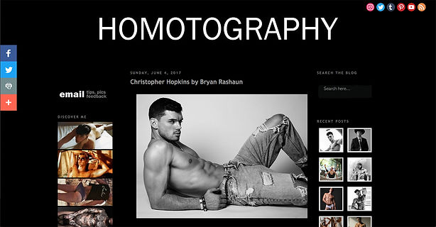 Los Angeles Model Chris Hopkins on HOMOTOGRAPHY blog by Bryan Rashaun