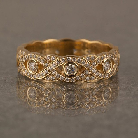 woven pave band