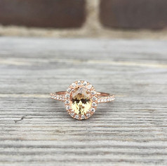 Rose gold halo