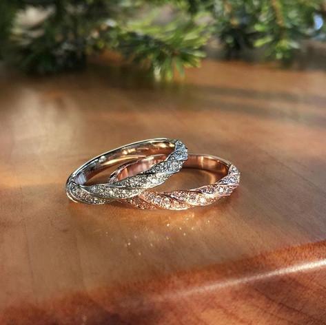 pave twist rings