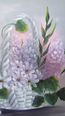 Lilac and Daisy Basket