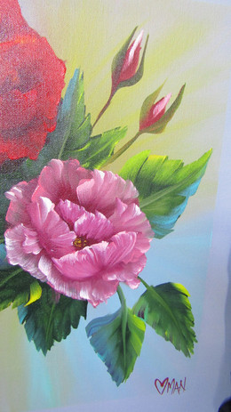 Beaming Rose close up
