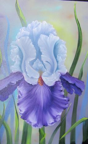 Iris Ruffle Royal