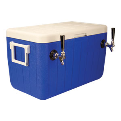 """Jockey Box Cold Plate Cooler - Blue - Two Product 10""""x15"""" Cold Plate"""