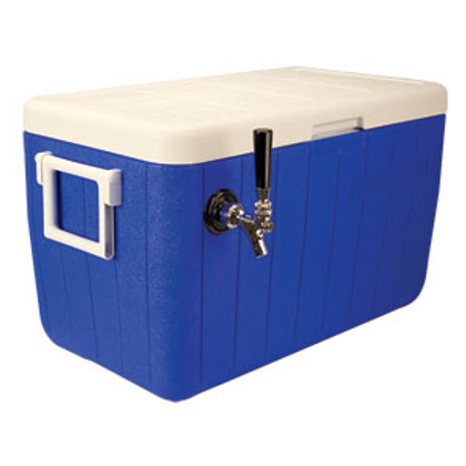 "Jockey Box Cold Plate Cooler - Blue - One Product 10""x15"" Cold Plate"