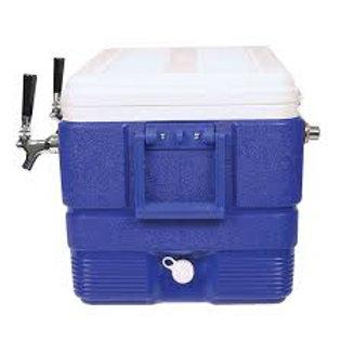 48 Qt. Coil Cooler - 2 Faucet, Blue
