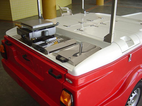 204TCP Hot Dog Tow Cart with Collapsible Top (Propane)