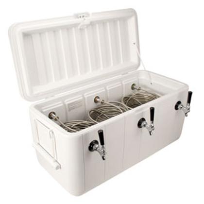 Jockey Box Coil Cooler - White - Three 120' Coils