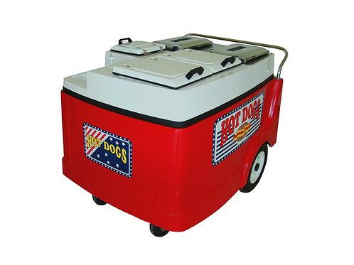 206PCP Hot Dog Push Cart (2 Steam Tables)