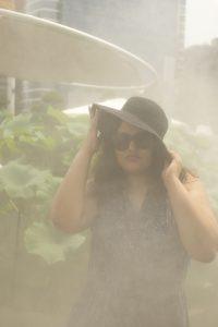 Wrinkle Effect Maxi Dress GAP, Wide Brim Straw Hat in Black H&M, Sunglasses H&M  Shot by Tiago Azinheira