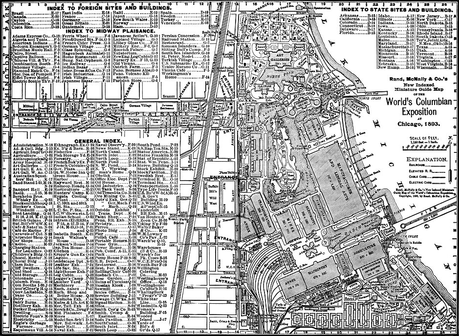 A map of the 1893 Columbian Exposition.