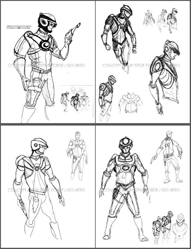 Buck Rogers Concept Sketches
