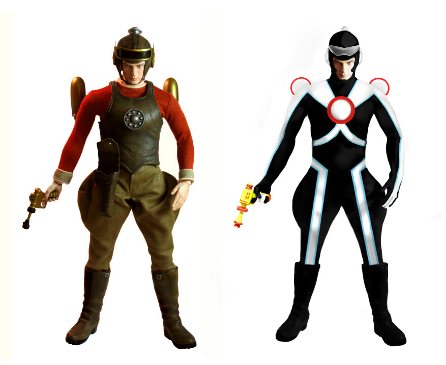 Buck Rogers Figure Concept Art