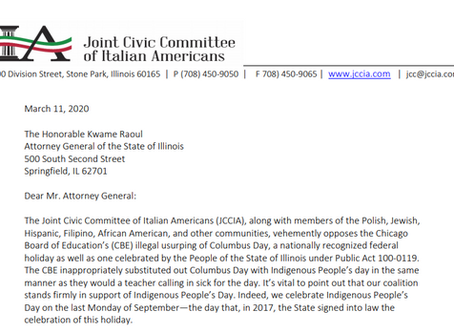 Columbus Day Coalition Continues