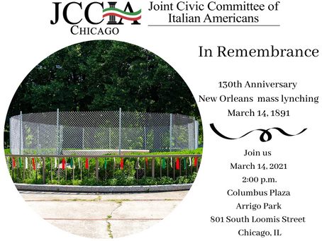 In Remembrance: 130th Anniversary New Orleans mass lynching March 14, 1891
