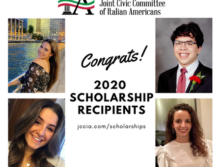 Congratulations JCCIA 2020 Scholarship Recipients!