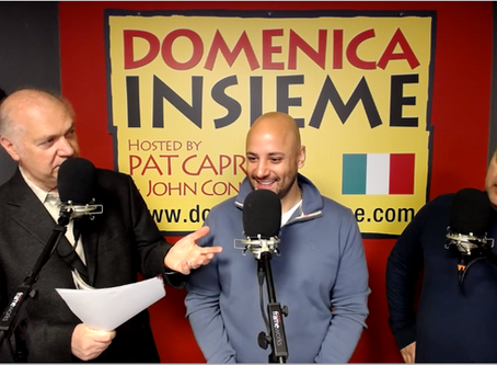JCCIA President, Sergio Giangrande, on Domenica Insieme!