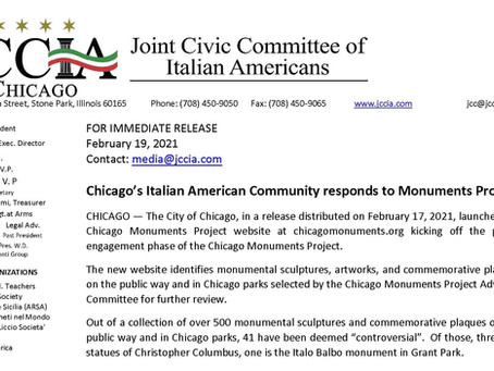 Chicago's Italian American Community responds to Monuments Project