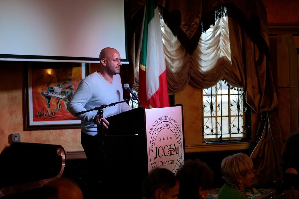 Outgoing JCCIA President, Sergio Giangrande