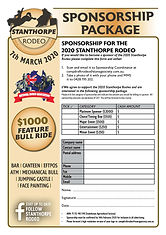 2020 Stanthorpe Rodeo_Sponsorship Packag