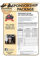 2021 Stanthorpe Rodeo Sponsorship Packag