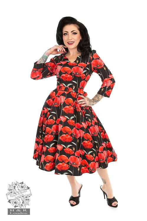 Sweet Poppy Swing Dress in Black