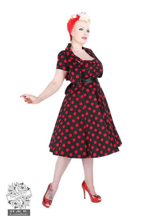 Big Dot Swing Dress With Bolero