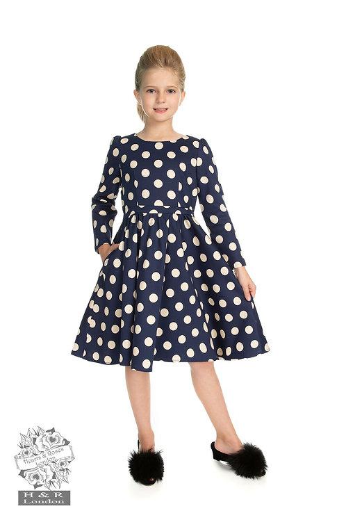 Girls Milana Polka Dot Swing Dress