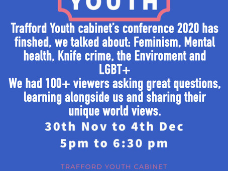Trafford youth cabinet online conference!
