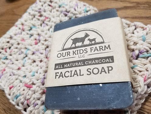 All Natural Charcoal Facial Soap