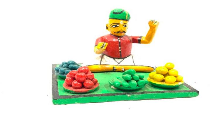 Wooden Vegetable man
