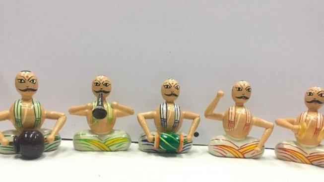 Wooden Poojari Music Set